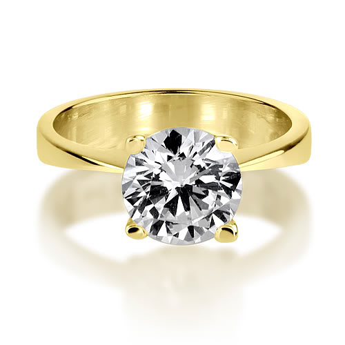 1.25 CARAT VVS GENUINE ROUND CUT SOLITAIRE DIAMOND 18K